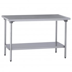 TABLE INOX CENTRALE AVEC ETAGERE 2000*700*900mm TOURNUS