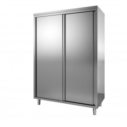 Armoire haute inox portes coulissantes - 1400x600x2000 mm