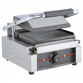 Grill panini rainuré - 230 V mono - PM simple - 410x300x210 mm 2,2 kW