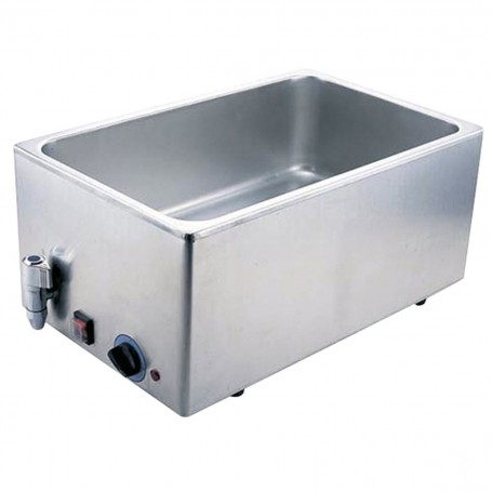 Bain-marie 24 L - Avec robinet - Profondeur 200 mm - 340x540x240 mm - 1,4 kW - 230 V mono