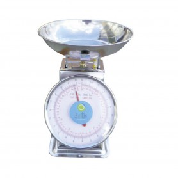 Balance mécanique à ressort - 215x250x143 mm - 5 kg / 10 g - Panier ø 20 cm
