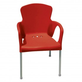 CHAISE EVA DE COULEUR COQUE ROUGE lot de 2