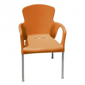 CHAISE EVA DE COULEUR COQUE ORANGE