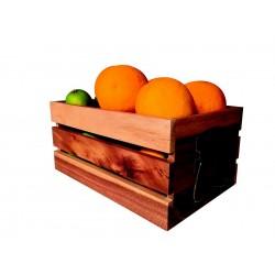 Porte menus LED Classic - 53x70 cm - Teck - 4 pages A4