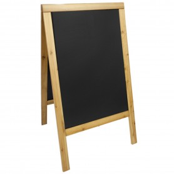 Panneau Trottoir - 70x125 cm - Premier prix - Teck