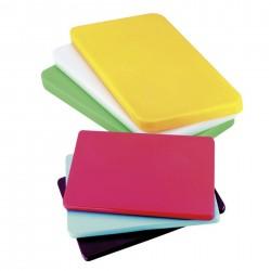 Chevalet de table - Bordure violette - 22x15 cm - Paquet de 3