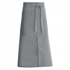 TABLIER BISTROT LONG NELL80 GRIS - MOLINEL