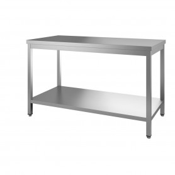 Table centrale - avec étagère pieds carrés - 1200x700x850/900 mm