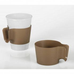 Supports pour gobelets - ø 6,4 cm - 4,5 cm marron «Vario»