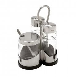 Distributeur de céréales - 42x23x62 cm - Simple - inox