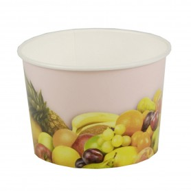 "Gobelet à glace - Carton rond 150 ml - ø 7,7 cm - 5,5 cm ""Fruits"""