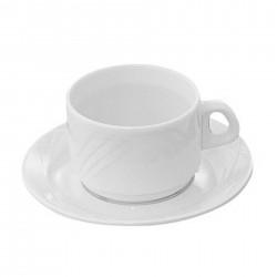 24 TASSES A CAFE 9cl - GRAND SIECLE - COULEUR IVOIRE