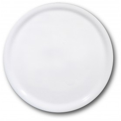 6 ASSIETTES A PIZZA NAPOLI BLANCHES Diam. 31cm SATURNIA