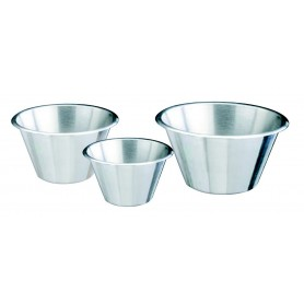 Bassine conique à fond plat inox - ø 24 cm - 3,5 L