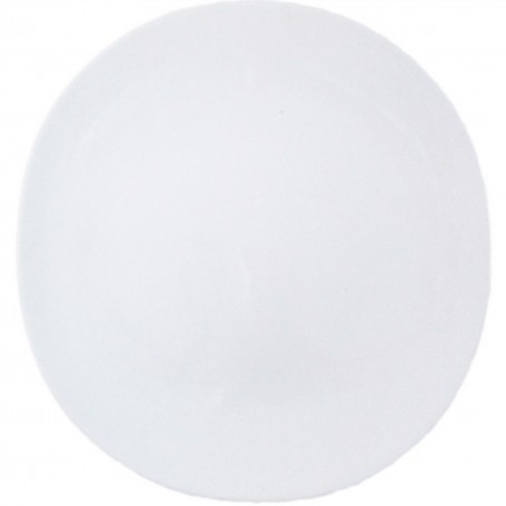 4 ASSIETTES SHELL LINE PLATE BLANC MAT - COOKPLAY
