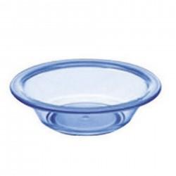 10 Franges microfibre bleue à poches et languettes