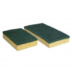 Tampon éponge cellulose bi-face 11*7*2.2cm - LOT DE 10