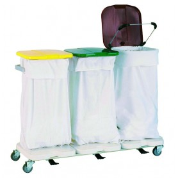 Chariot porte-sacs pour 3 sacs - 1180x410x880 mm TECNOX